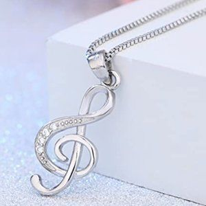 925 SS MUSIC NOTE NECKLACE